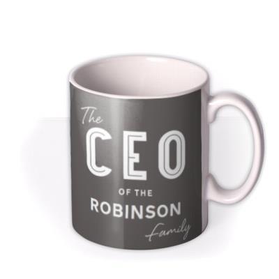 CEO of the Family Photo Upload Mug