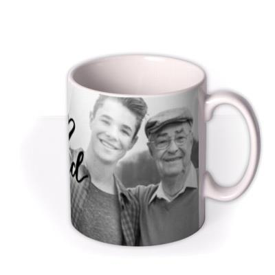 Love You Grandad Black And White Photo Upload Mug