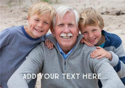 Grandad Photo Father's Day Card - Use your own photo to make a personalised father's day card