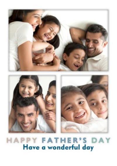 Modern Wonderful Photo Upload Father's Day Card