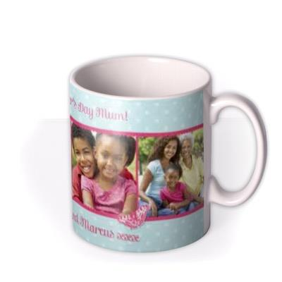 Mother's Day Blue Photo Upload Mug