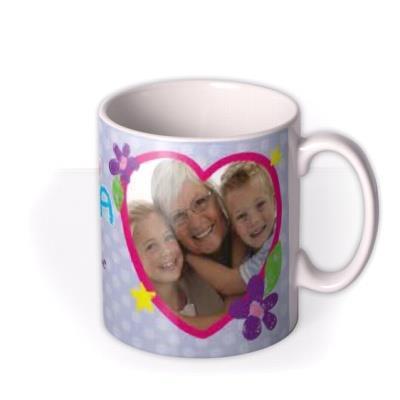 Mother's Day Love You Grandma Photo Upload Mug