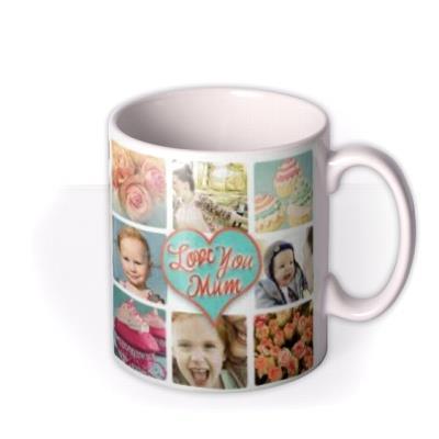 Mother's Day Love Collage 17 Photo Upload Mug