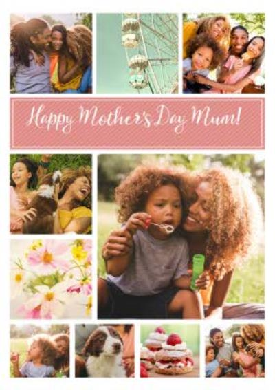 Pastel Multi Photo Mother's Day Card