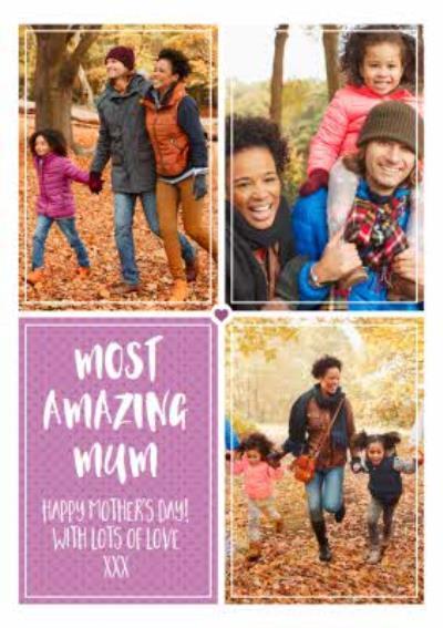 Polka Dot Multi Photo Happy Mother's Day Card