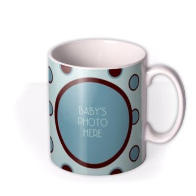 Baby Boy Spotty Photo Upload Mug