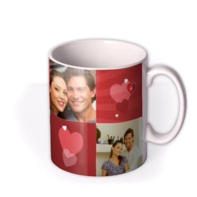 Valentine's Day Heart Collection Photo Upload Mug