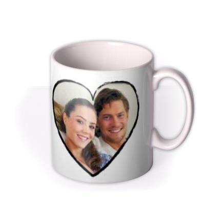Valentine's Day Sketched Heart Photo Upload Mug
