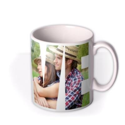 Valentine's Day LOVE Photo Upload Mug