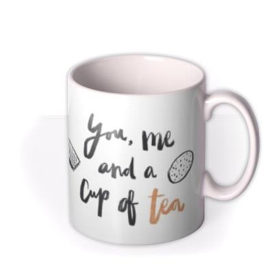 Valentine's Day You, me and a cup of tea - Photo Upload Mug