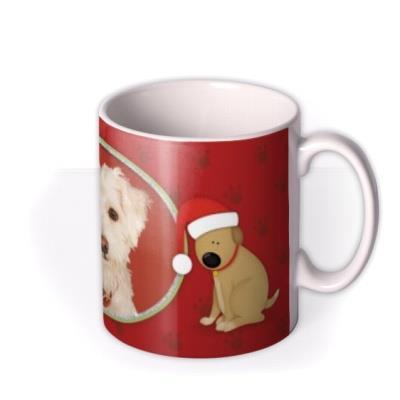 Merry Christmas Dog Photo Upload Mug