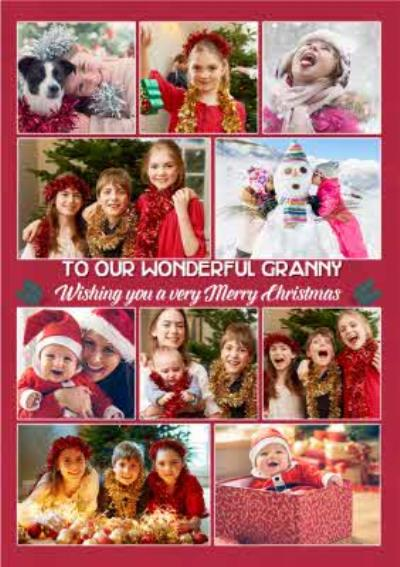 Multi Photo Upload Christmas Card For Granny
