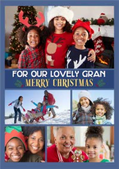 Multiple Photo Upload Charistmas Card For Gran Or Granny