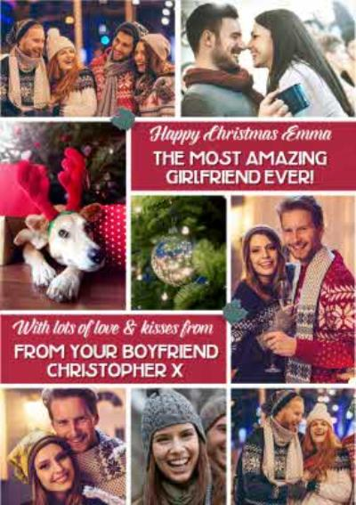 Multiple Photo Upload Christmas Card For Girlfriend