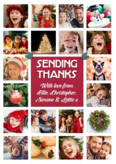 Multiple Photo Upload Thank You Christmas Card