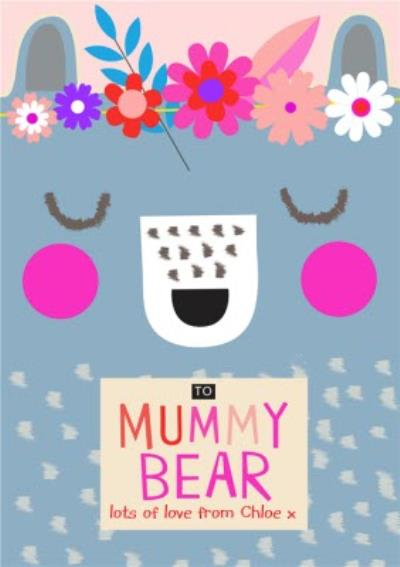 Mother's Day Card - Mummy Bear - Cute Illustration