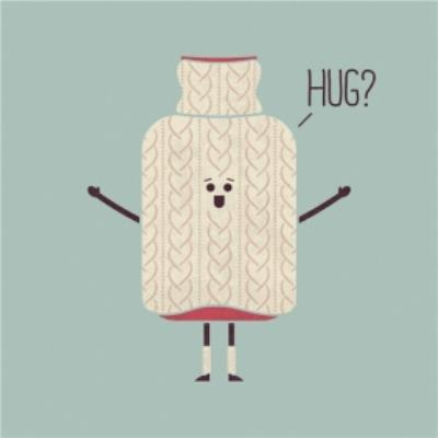 Modern Typographical Can I have A Hug Card