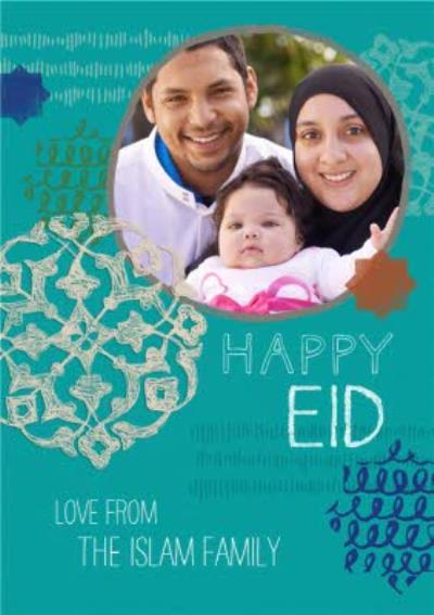Wishing You A Blessed Eid Personalised Photo Upload Happy Eid Card