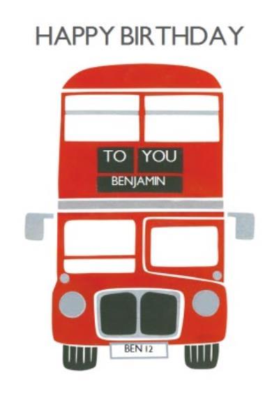 Routemaster Birthday Card