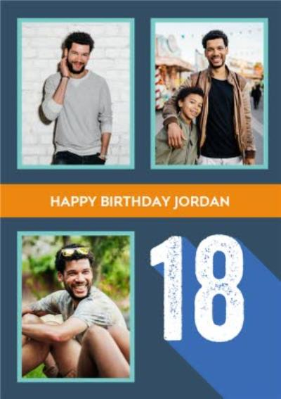 Happy 18th Birthday Photo Upload Card