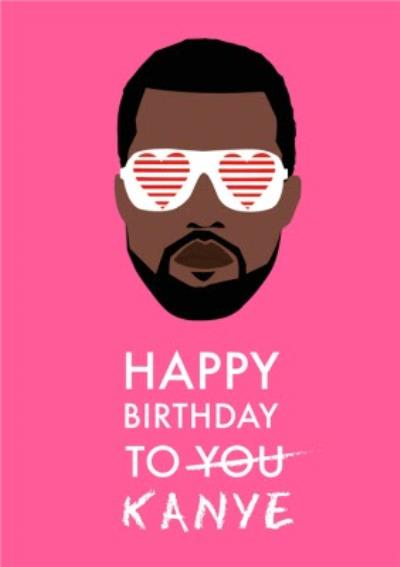 Modern Funny Happy Birthday to You Celebrity Singer Card