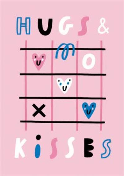 Hugs And Kisses Pink Card