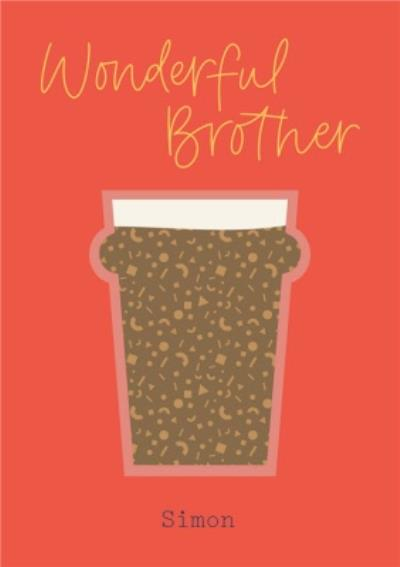 Scatterbrain Letters by Julia Beer Brother Birthday Card