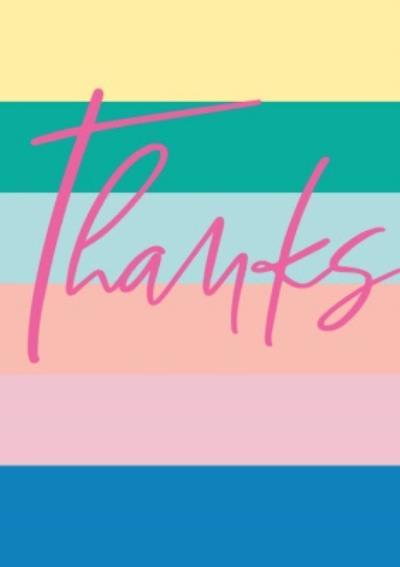 Thanks Rainbow Card