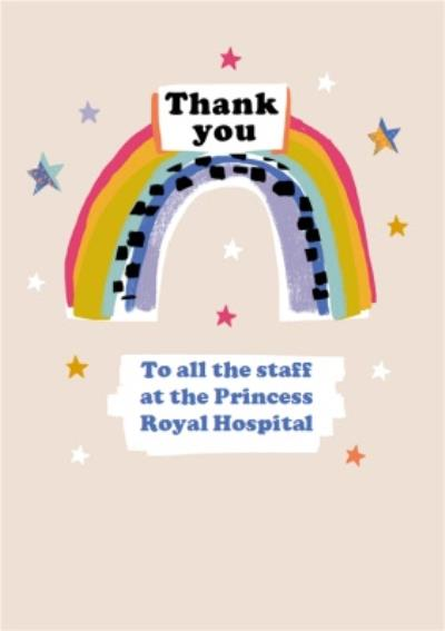 Thank You Carers NHS Staff Keyworkers Hospitals Rainbow Thank You Card