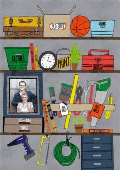 Tools On Shelf Photo Card