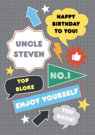 Personalised Top Bloke Happy Birthday Uncle Card