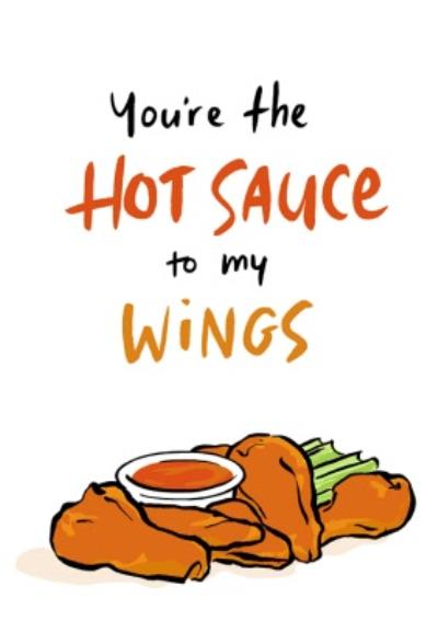 Funny Hot Sauce Hot Wings Birthday Card