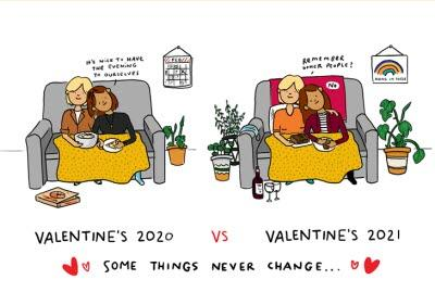 Valentine's 2020 2021 Remember Other People Lesbian Couple Card