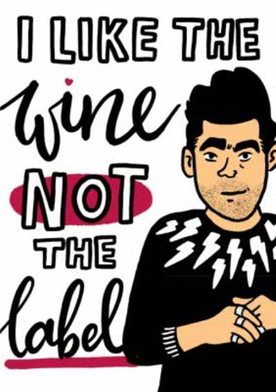I Like The Wine Not The Label Funny Illustration Card