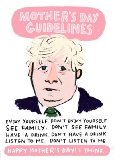 Boris Johnson Mothers Day Guidelines Card
