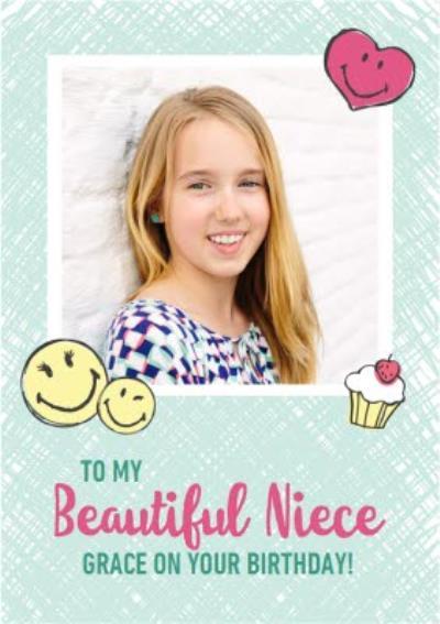 Smiley World Beautiful Niece Photo Upload Card