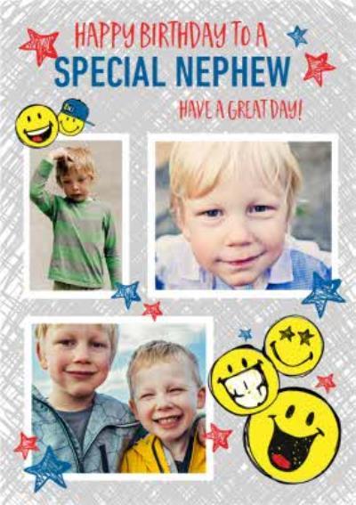 Smiley World Special Nephew Photo Upload Birthday Card