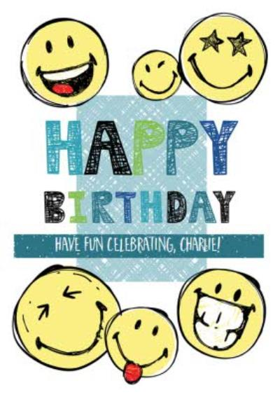 Smiley World Happy Birthday Card
