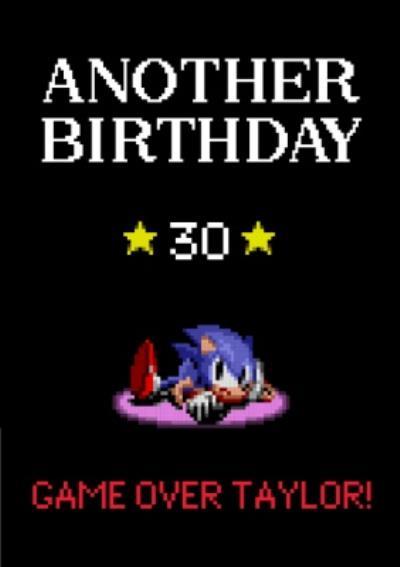 Sega Sonic Pixel Art Another Birthday Card