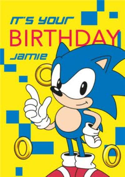 Sega Sonic Its Your Birthday Card