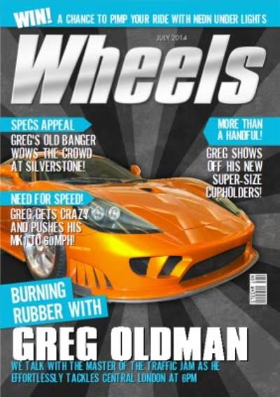 Wheels Magazine Need For Speed Personalised Birthday Card