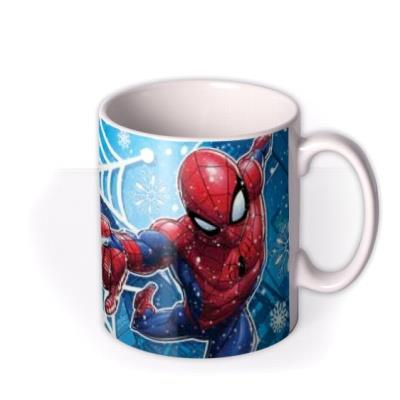 Marvel Spiderman In The Snow Photo Upload Mug