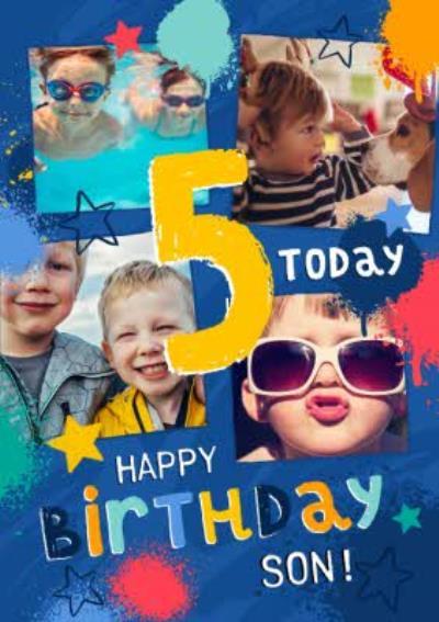 Studio Sundae 5 Today Happy Birthday Son Birthday Photo Upload Card