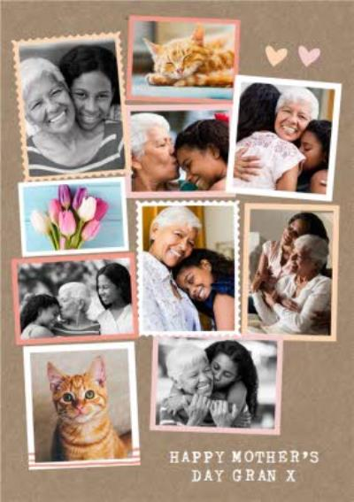 Modern Photo Upload Collage Happy Mothers Day Gran Card