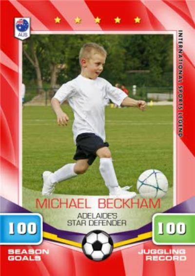 Soccer All Stars Card Personalised Photo Upload Card