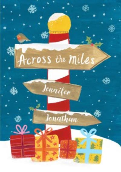 Christmas Card - Across The Miles - Illustration