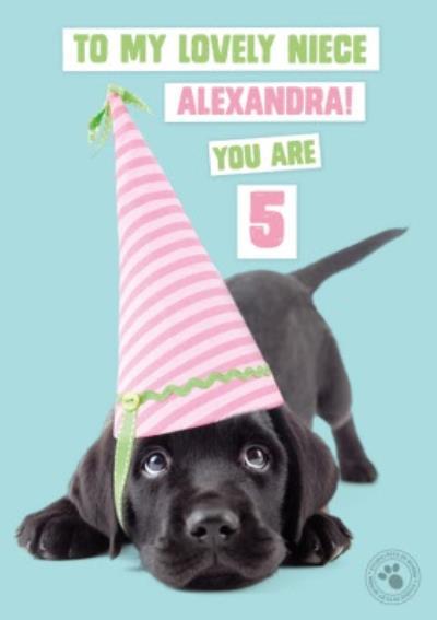 Studio Pets Birthday Card Labrador Puppy To My Lovely Niece