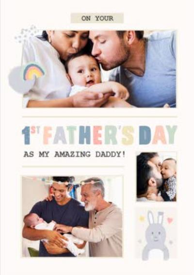 First Father's Day Photo Upload Card