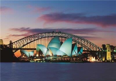 Sydney Opera House At Dusk Personalised Greetings Card