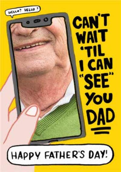 Funny Video Call Photo Upload Father's Day Card